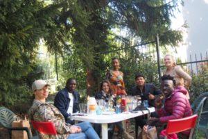 ASU team members and volunteers having a meeting