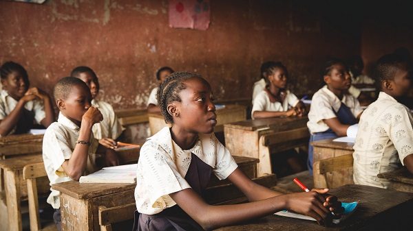 African students seated in a classroom