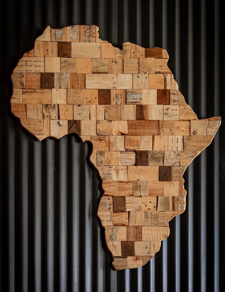 map of africa on dark background
