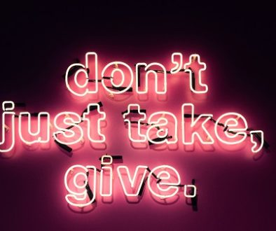 Don't just talk, give