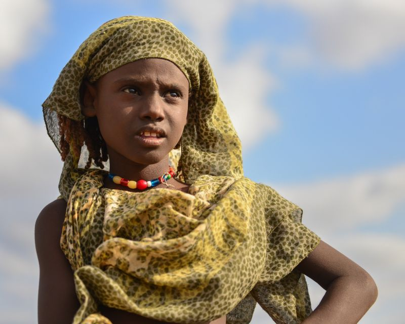 A little girl from Ethiopia